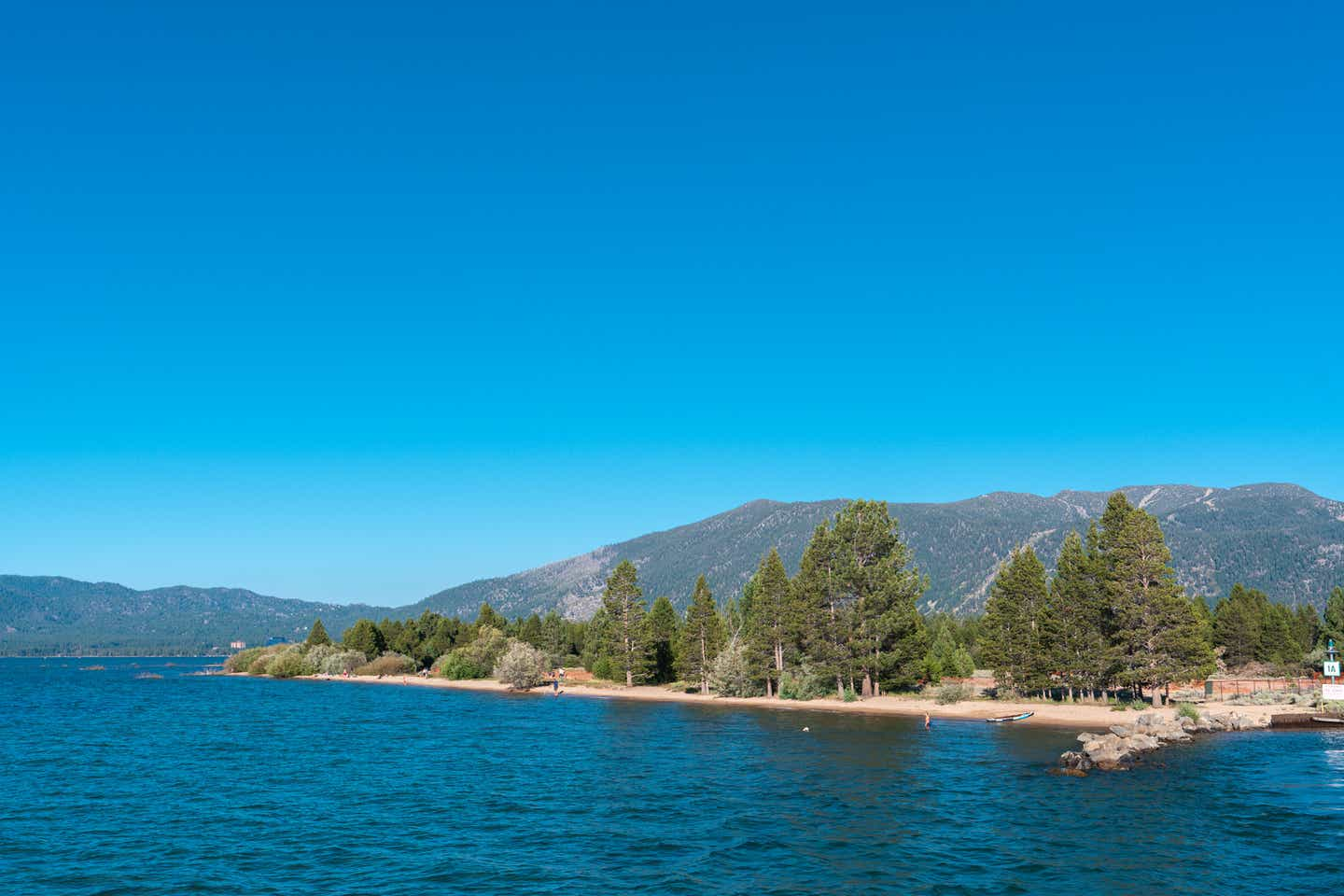 A view of the Lake Tahoe mountains.