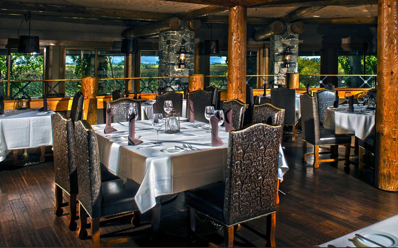 Indoor seating at 1862 Restaurant & Saloon at David Walley's Resort in Genoa, Nevada.
