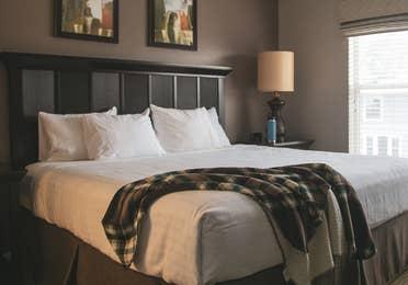 Bedroom with window at Orlando Breeze Resort in Florida.
