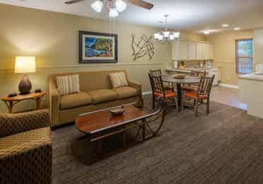 Living room in a two-bedroom villa at Timber Creek Resort