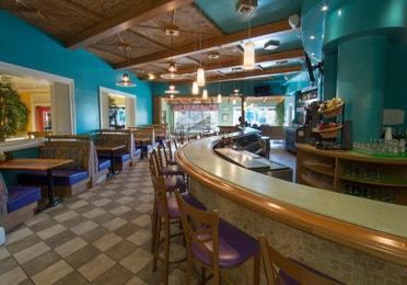 Bar seating at Cape Grill and Bar at Cape Canaveral Resort