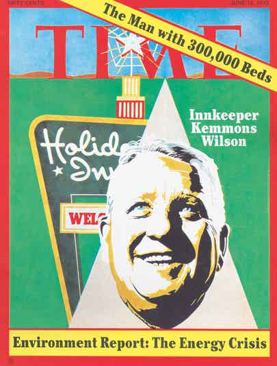 Kemmons Wilson's featured on a 1972 TIME Magazine cover