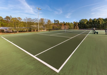 Tennis court at Apple Mountain Resort in Clarkesville, GA