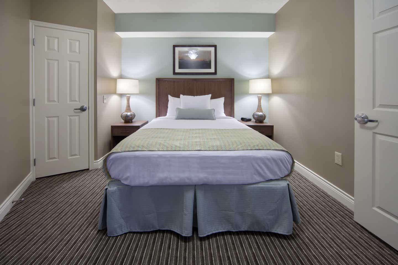 Guest bedroom in a two-bedroom lock-off villa at Galveston Beach Resort