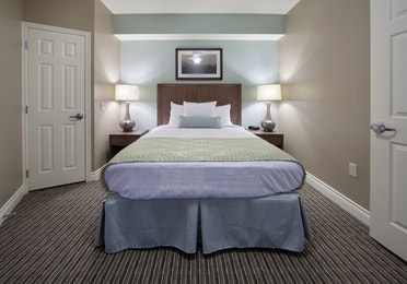Guest bedroom in a two-bedroom lock-off villa at Galveston Beach Resort