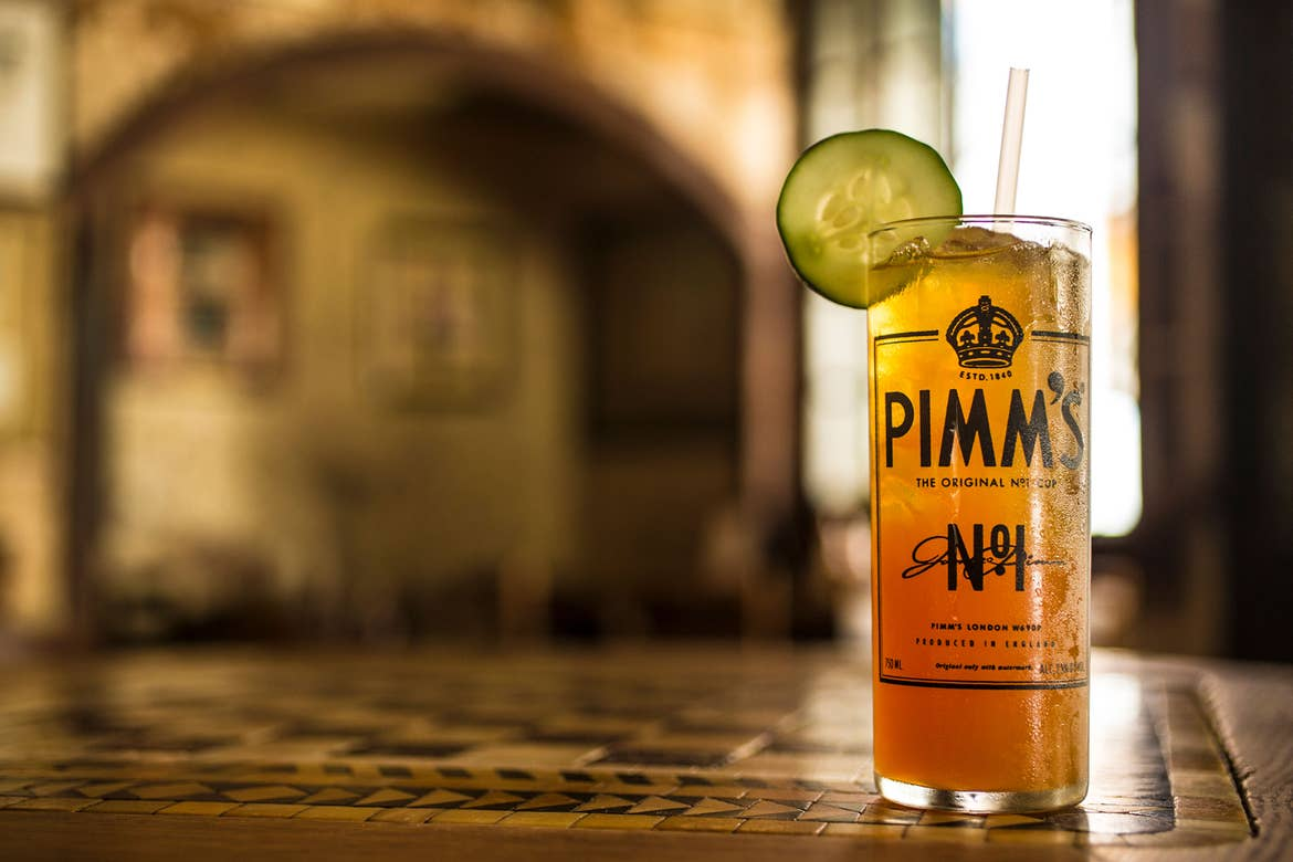 A glass of 'Pimm's Cup' from Napoleon House.