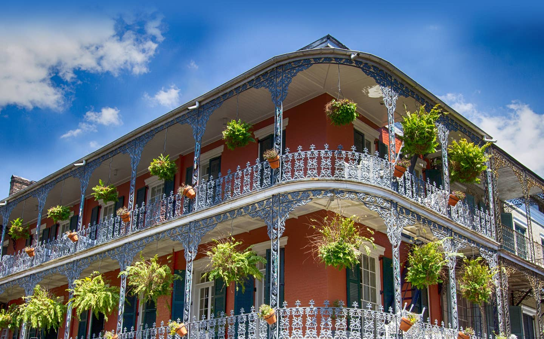 Local buildings near New Orleans Resort in Louisiana.