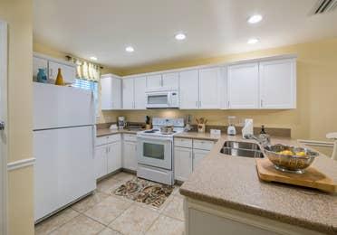 Kitchen in a three-bedroom villa at Villages Resort