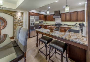 Kitchen in a Two-Bedroom Signature Collection villa at Scottsdale Resort in Arizona