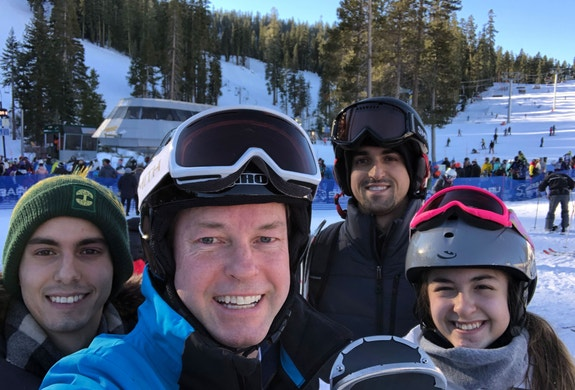 Skiing in Tahoe with the family