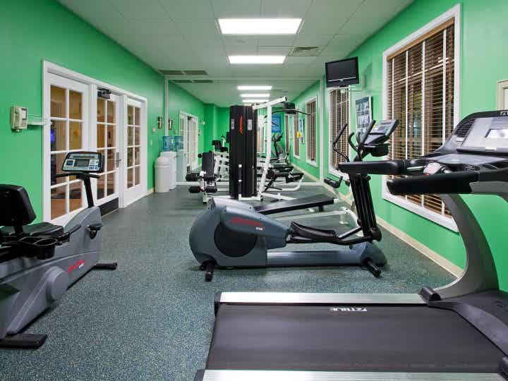 Interior view of the fitness center at South Beach Resort in Myrtle Beach, SC