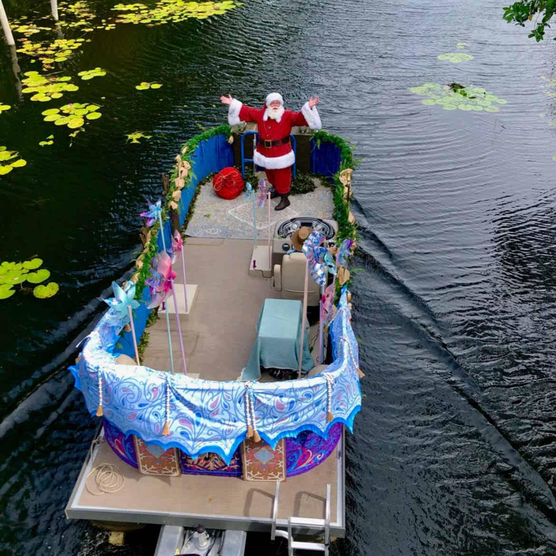 Santa Claus' Festive Flotilla at Disney's Animal Kingdom Theme Park at Walt Disney World® Resort.