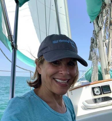 Denise on the sailboat in Marco Island