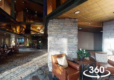 Lobby at Tahoe Ridge Resort in Stateline, Nevada.