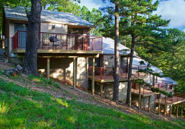 View of cabins at Ozark Mountain Resort in Kimberling City, MIssouri
