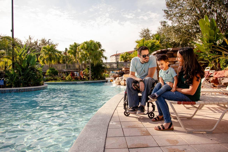 The Pitaluga family at their favorite vacation place: River Island at Orange Lake Resort!