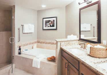 Bathroom in a two-bedroom villa at Orange Lake Resort in Orlando, FL