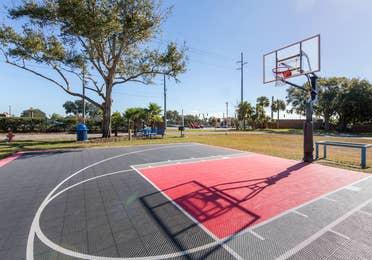 Outdoor basketball court at Orlando Breeze Resort in Orlando, Florida.