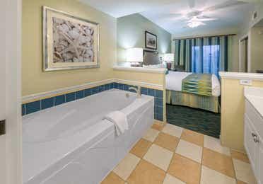 Bathroom in a one-bedroom villa at South Beach Resort
