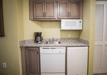 Kitchenette in a villa at Cape Canaveral Beach Resort.
