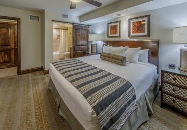 Bedroom with en suite bathroom in the Three-Bedroom Signature Villa at the Scottsdale Resort in Arizona