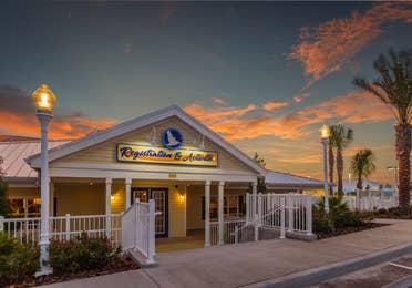 Registration and Activity Center exterior at Orlando Breeze Resort in Florida.
