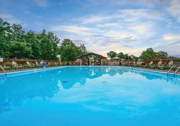 The large pool at the Holiday Hills Resort in Branson Missouri.