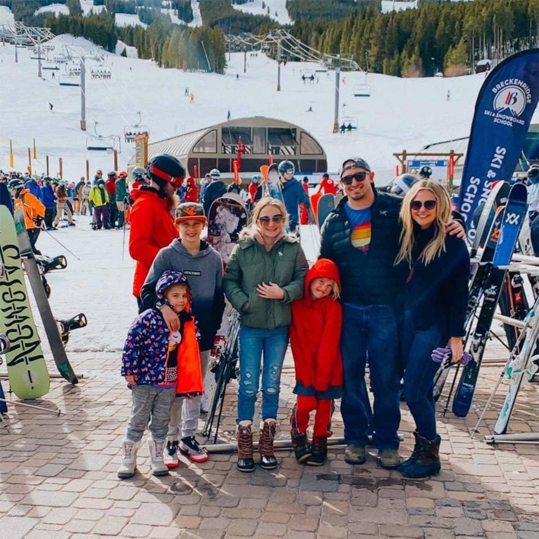 Ashley's family on a ski trip.