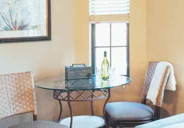 Small seating area in a three bedroom villa in North Village at Orange Lake Resort near Orlando, Florida