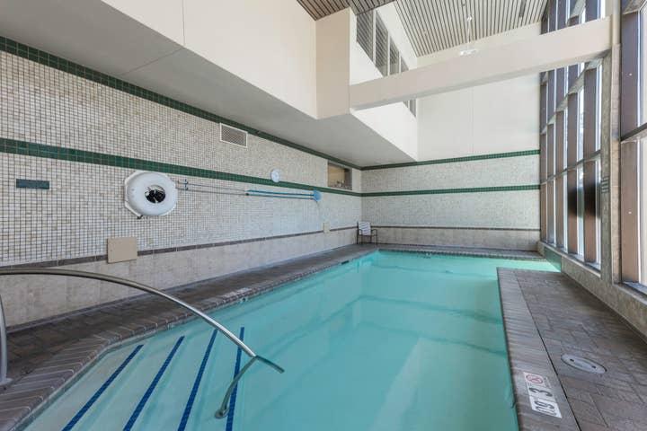 An indoor pool at Tahoe Ridge Resort in Stateline, NV