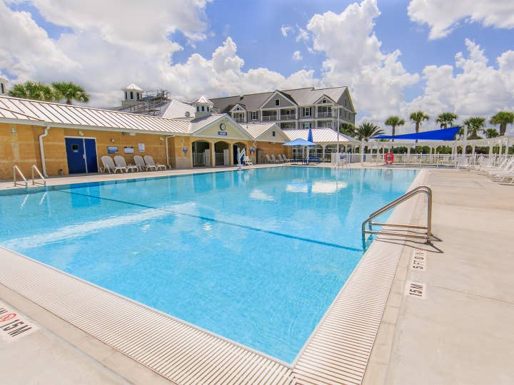 Outdoor pool at Orlando Breeze Resort near Orlando, Florida.