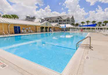 Outdoor pool at Orlando Breeze Resort near Orlando, Florida.