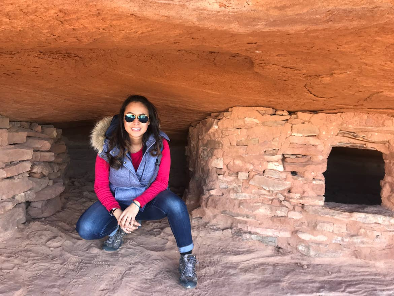 Andrea exploring Canyonlands National Park in Utah