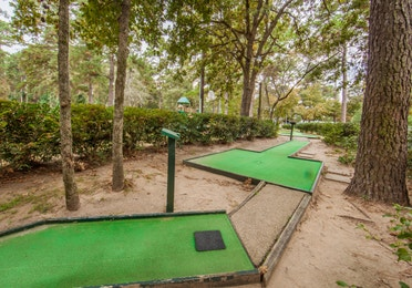 Outdoor mini golf game at Lake O' the Wood Resort in Flint Texas.