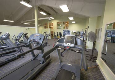 Treadmills in The Climb gym at Mount Ascutney Resort in Brownsville, VT