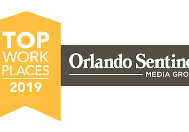 2019 Orlando Sentinel's Top Places to Work Award badge