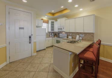 Kitchen in a two-bedroom presidential villa at Villages Resort