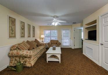 Living room in a villa at Orlando Breeze Resort.