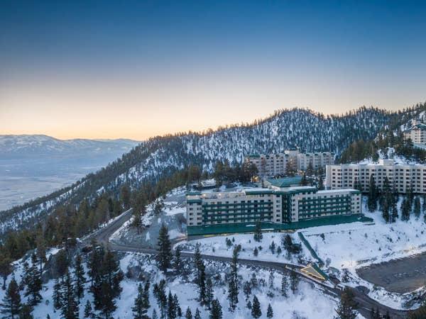 Aerial view of Tahoe Ridge Resort in Stateline, Nevada.