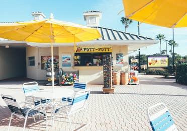 Putt Putt rental counter in the West Village at Orange Lake Resort near Orlando, Florida