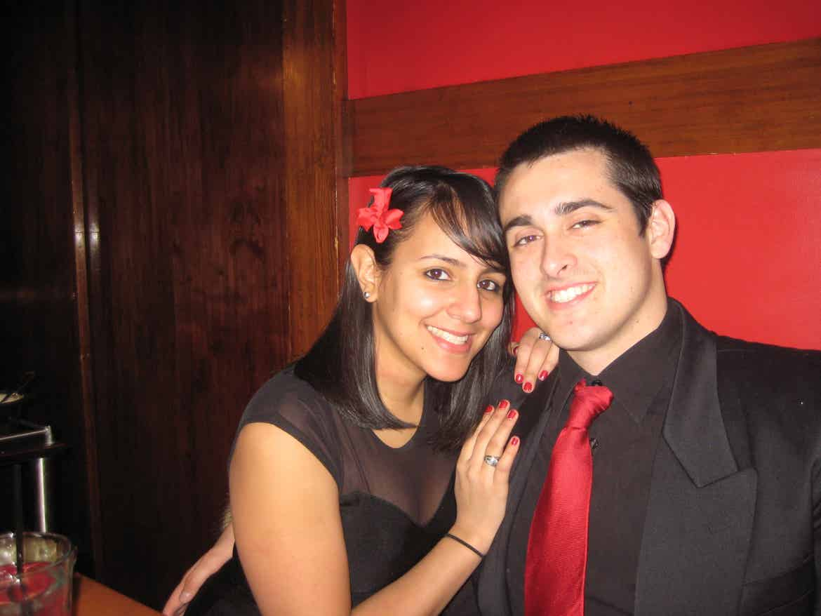Danny and his wife dressed up in 2011