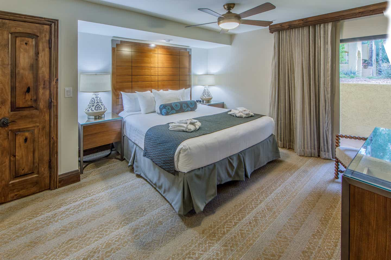 Master Bedroom in the four-bedroom Signature villa at the Scottsdale Resort in Arizona