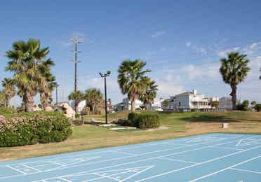 Shuffleboard courts at Galveston Seaside Resort