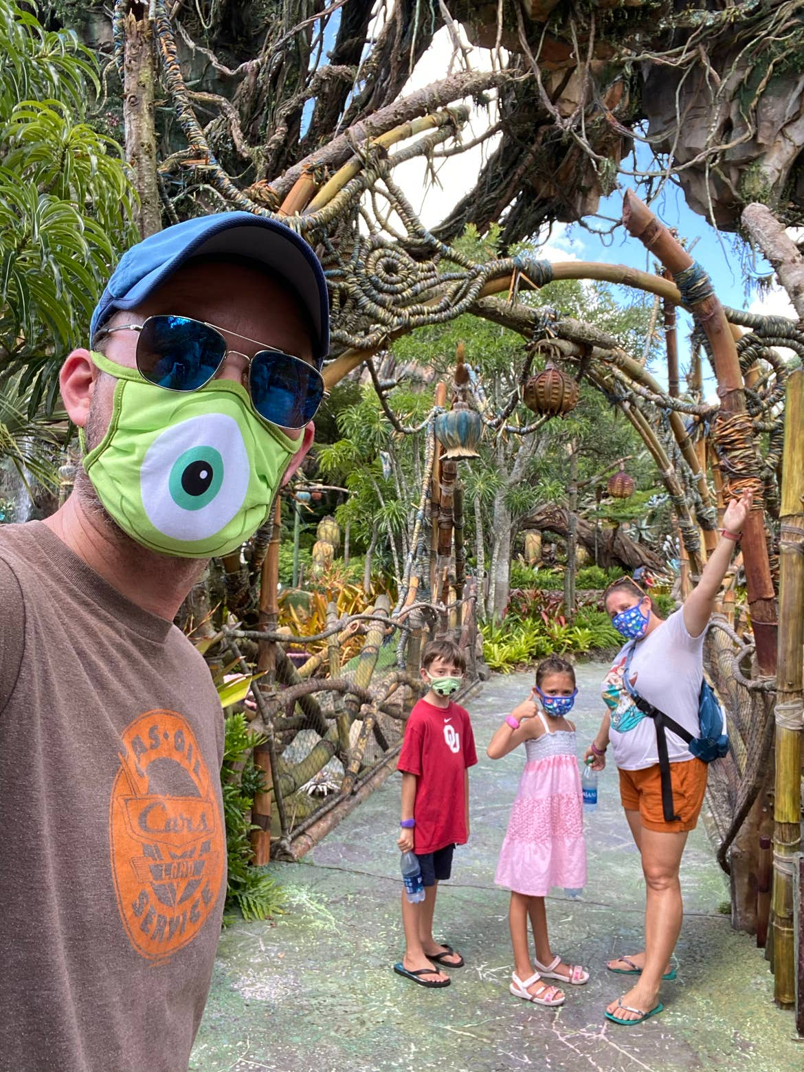 Ben with his family at Animal Kingdom