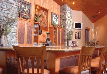 Bar in the Bear Trap Lounge and Bar at Tahoe Ridge Resort