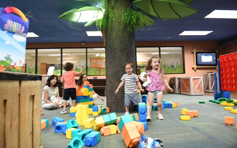 Children playing at Swampy's Adventure Club at Orange Lake Resort near Orlando, Florida.