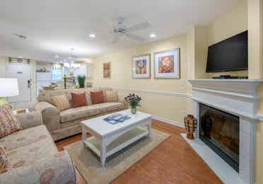 Living room in a three-bedroom villa at Villages Resort
