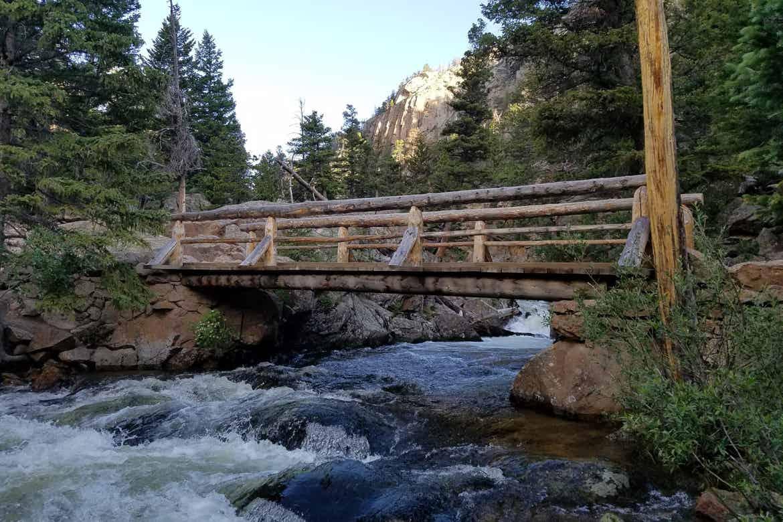 Roaring River Footbridge at Alluvial Fan, Rocky Mountain National Park