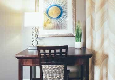 Desk in a two-bedroom villa in West Village at Orange Lake Resort near Orlando, FL
