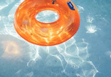 Inter-tube floating in pool in River Island at Orange Lake Resort near Orlando, Florida